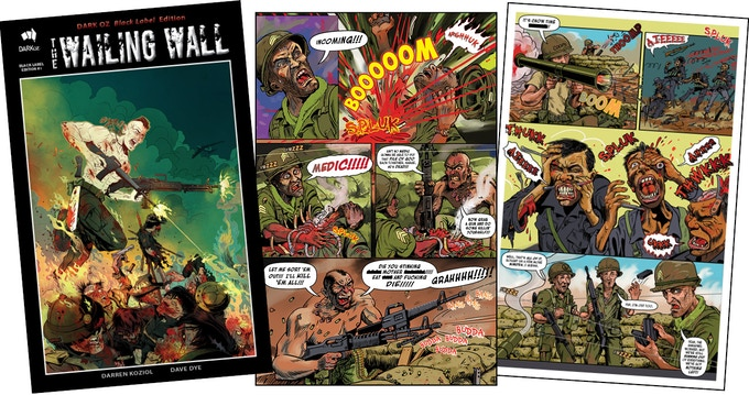 Black Label #1 'The Wailing Wall' - page samples