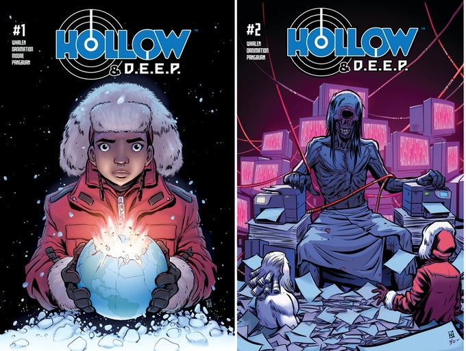 Covers for issues one and two of four issues