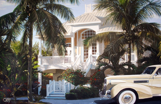 Tropical Car Image that is Included in all Table-Art rewards with 4 prints