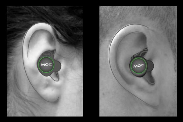 Ear hook & Ear Fin in different shape ears