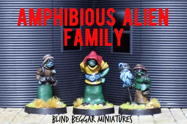 Amphibious Alien Family