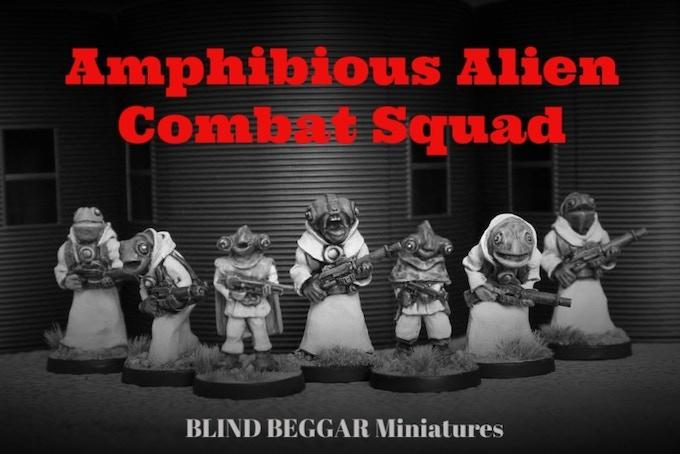 Amphibious Alien Combat Squad
