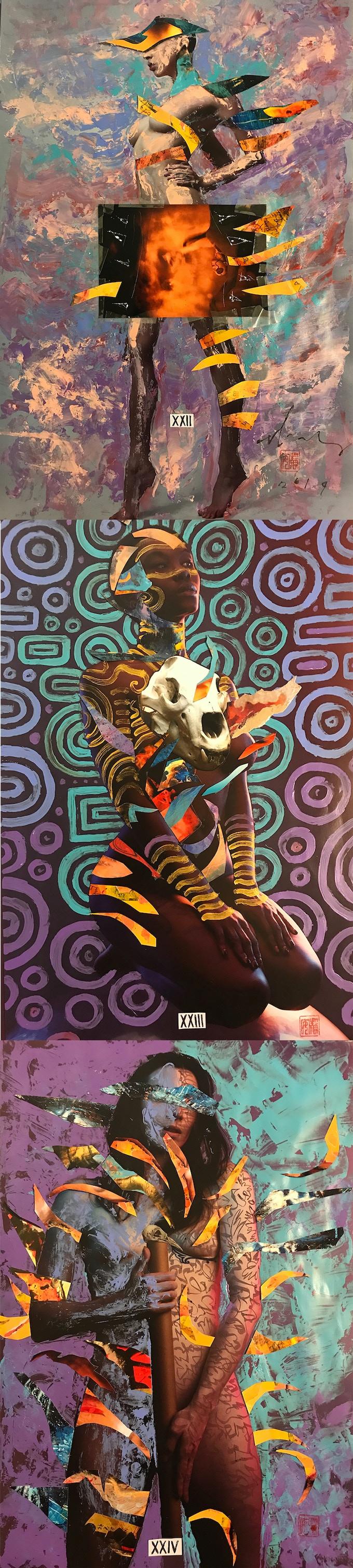 $1200 reward  - David Mack original art XXII Kitty Malone, XXIII Eirenne SG, XXIV Stoya