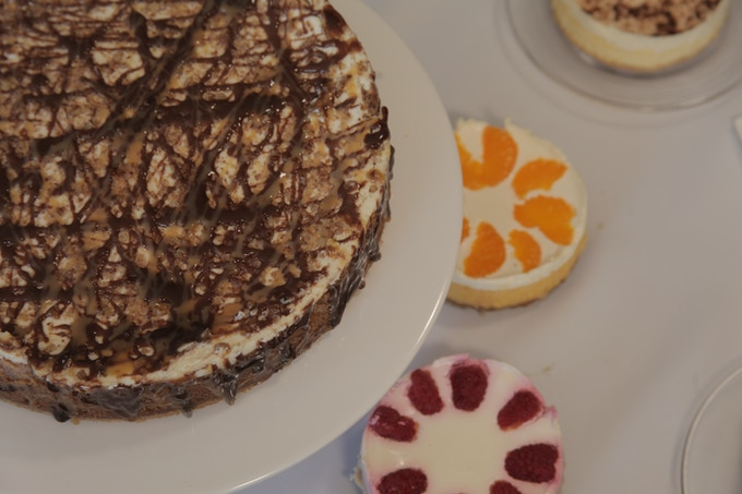 Simply Simon's, TurtleDove, with a little orange and raspberry