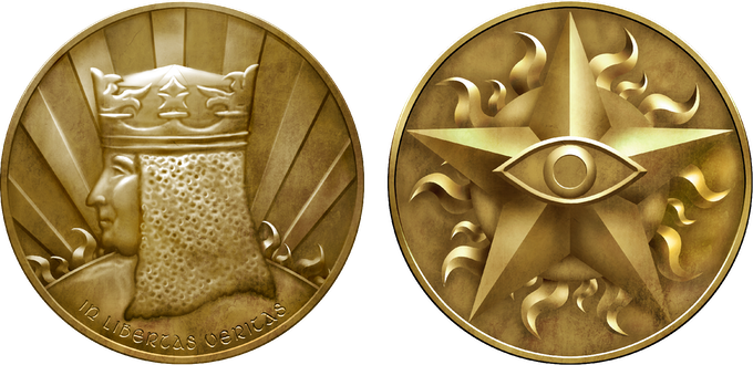 This is a mockup of the final version of the coins from Campaign Coins.