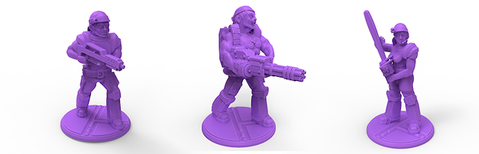 Colonial Marine Squad, 32mm 3D Printable(FDM) miniatures.