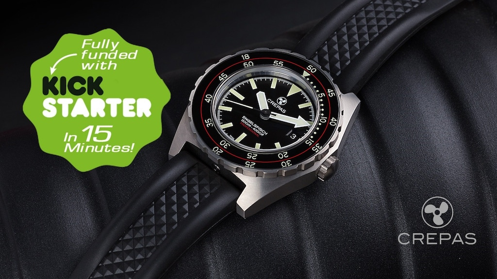CREPAS ENGELSFISCH, Swiss Watch made of hardened Titanium. project video thumbnail