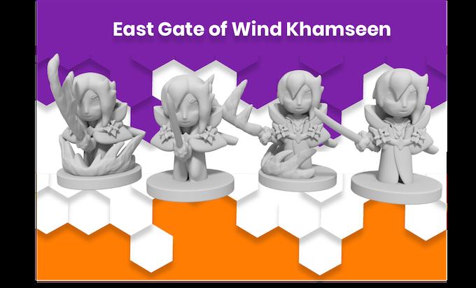 Anime Mini East Gate of Wind Khamseen