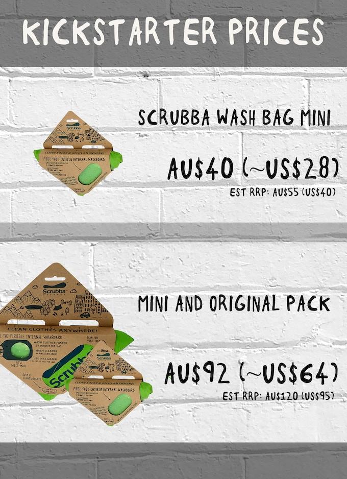 Scrubba Mini Kickstarter Prices