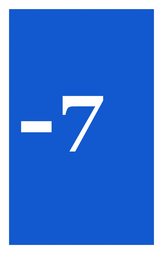 Negative 7
