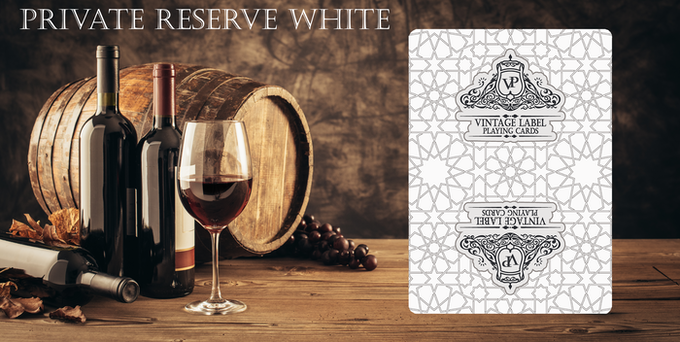 Card backing design for Private Reserve White Deck.