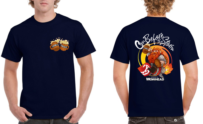 CBTS shirt designed by Tsepish on a Navy Blue Shirt