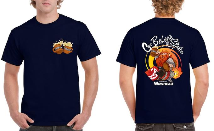 CBTS shirt designed by Tsepish on a Navy Blue Shirt