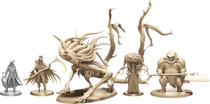 Scale comparison of the new Hunter's Dream figures.