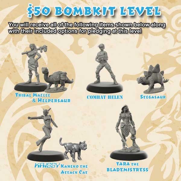 Includes everything shown for this backer level plus any additional free items listed. This level may also include additional free items or choices that are unlocked as stretch goals as the project progresses.  Please note: Shipping costs will be collected during pledge management AFTER the project ends.