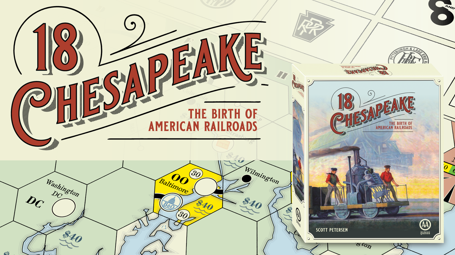 18Chesapeake - The Birth of American Railroads - Introductory 18xx Board Game