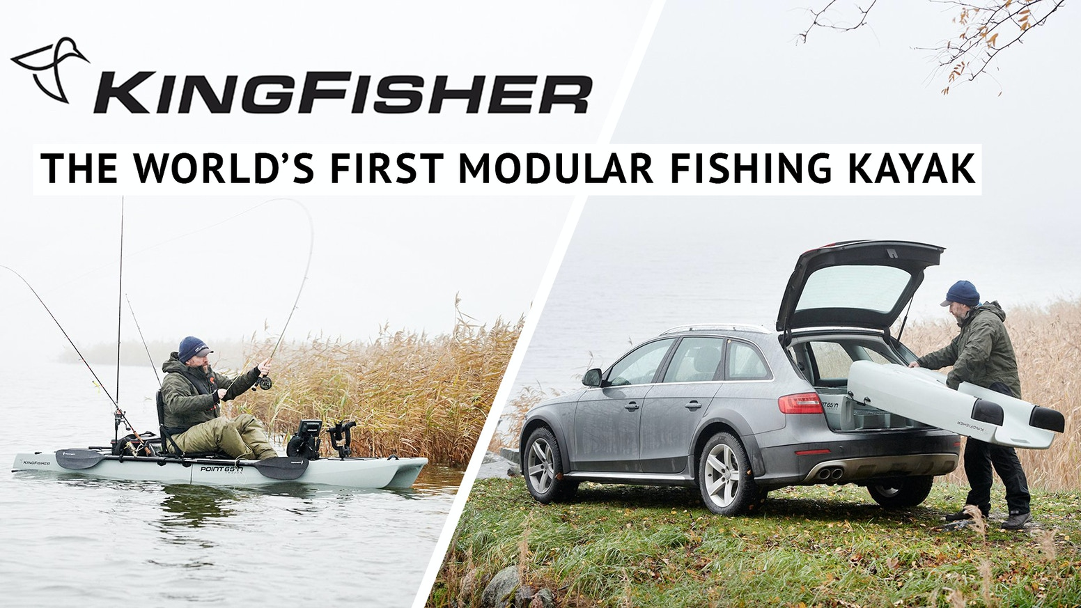 With its patented, innovative modular design, the KingFisher is the world's first fishing kayak that fits in your car, apartment, even under your bed!
