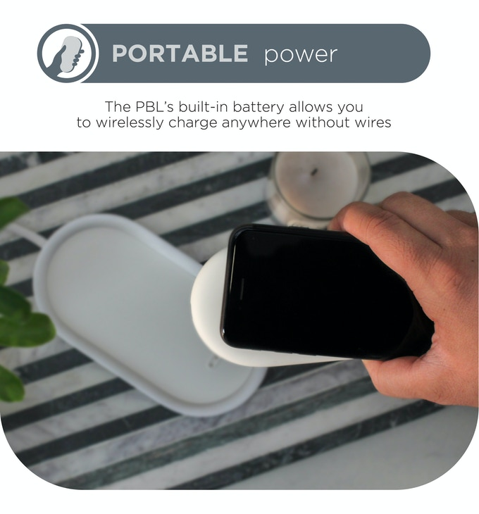 PBL Charger: The Future of Portable Power Portable power without the hassle. The most convenient wireless charger.