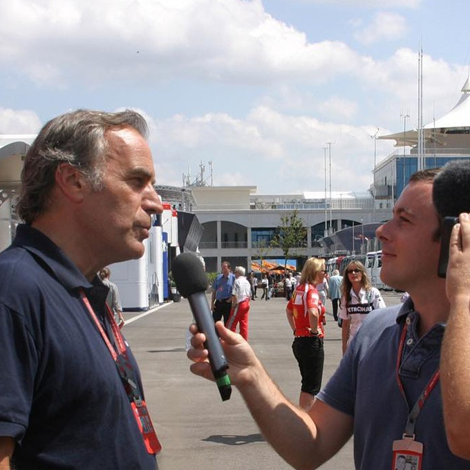 Giorgio interviewed by journalists