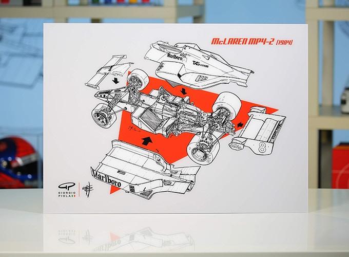 McLaren MP4-2 on Acrylic