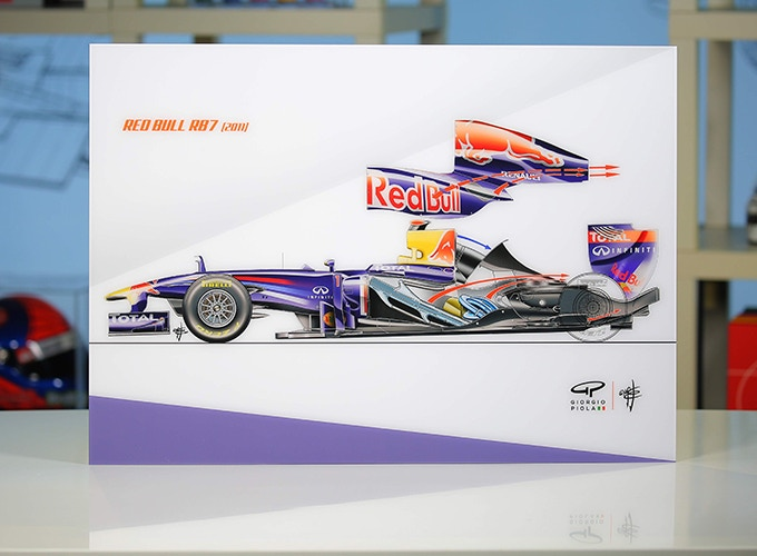 Red Bull RB7 on Acrylic