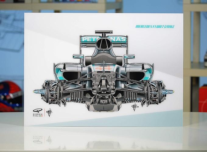 Mercedes F1W07 on Acrylic