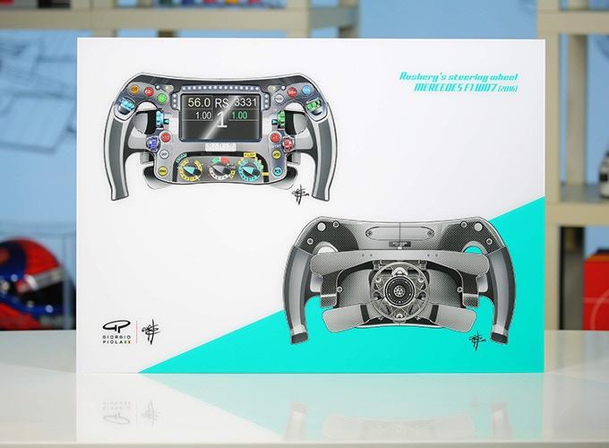 Mercedes F1W07's Steering Wheel on Acrylic