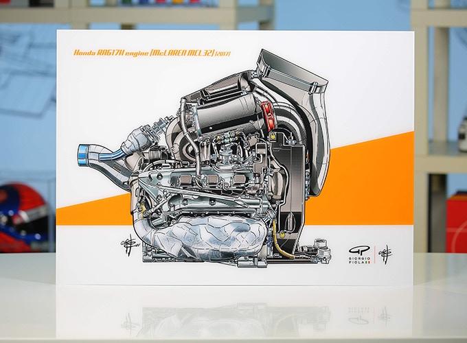 McLaren MCL32's Engine on Acrylic
