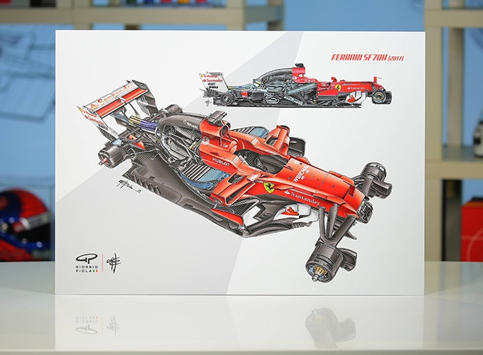 Ferrari SF70H on Aluminum