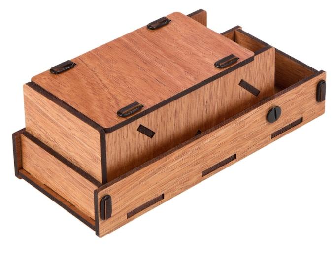 Mahogany Premium; closed profile w/lid in closed storage position