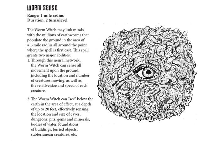 The Worm Sense spell