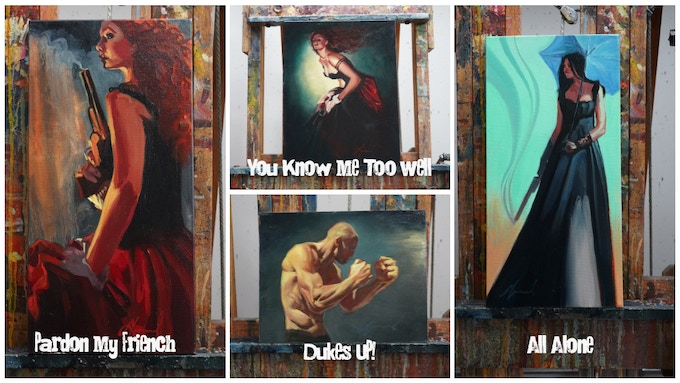 Smaller Version of Original Oil Paintings featured in the Book Collection!