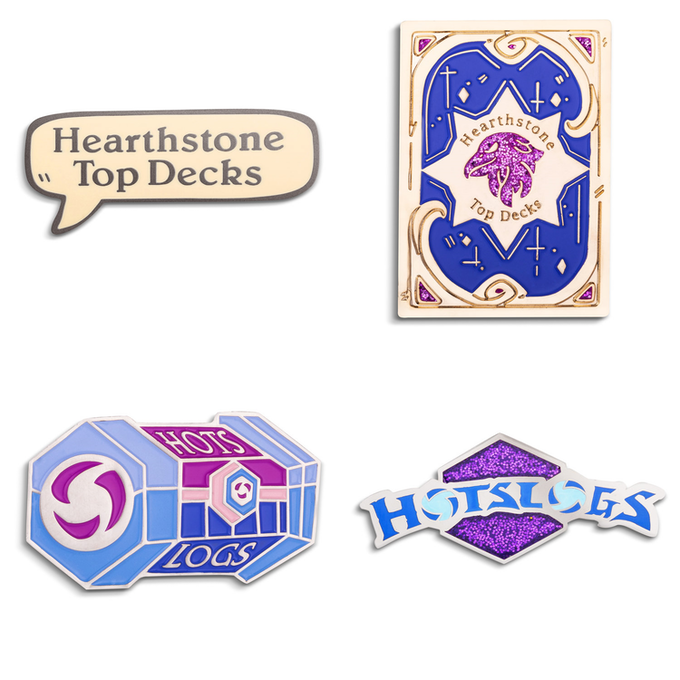 Wowhead HotS and HS Inspired Enamel Pins (Addon only)