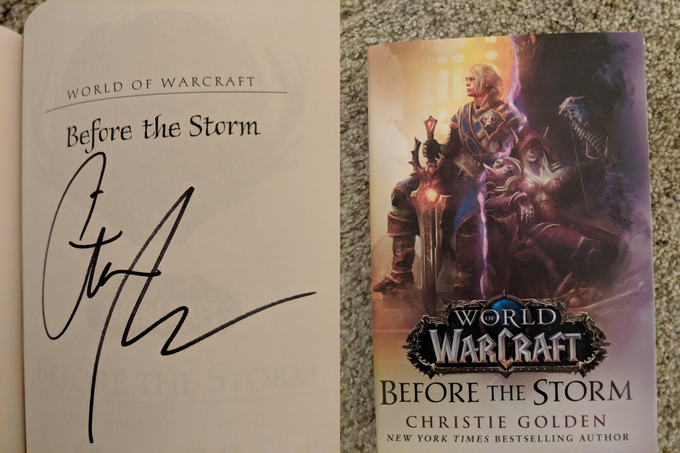 Before the Storm Hardcover, signed by Christie Golden