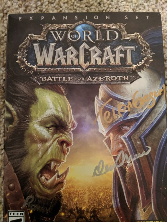 Signed copy of BFA by Terran Gregory!