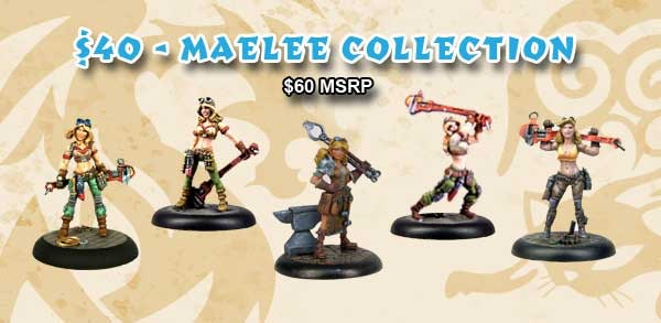 This special Maelee collection is offered to backers at pledge amount of $40 and includes two unique miniatures not available for regular retail sales.