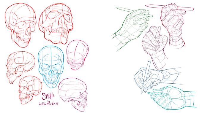 Volume 5 Hand & Skulls Examples