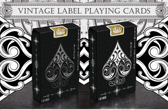 Premier Edition Deck samples - Gilded Decks include Gold Foil Box Seals. Both versions (Premium Linen card edging and Gilded card edging) will be Limited Editions and numbered accordingly on the lower left of each tuck box. (Max print run for each deck will be limited to 1900 decks)