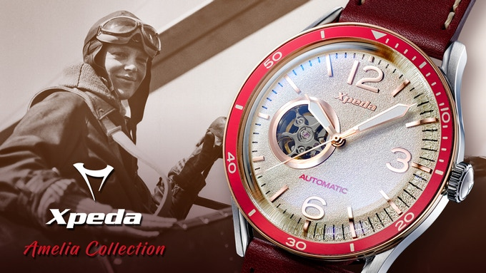 Amelia Automatic Pilot Watches by Xpeda