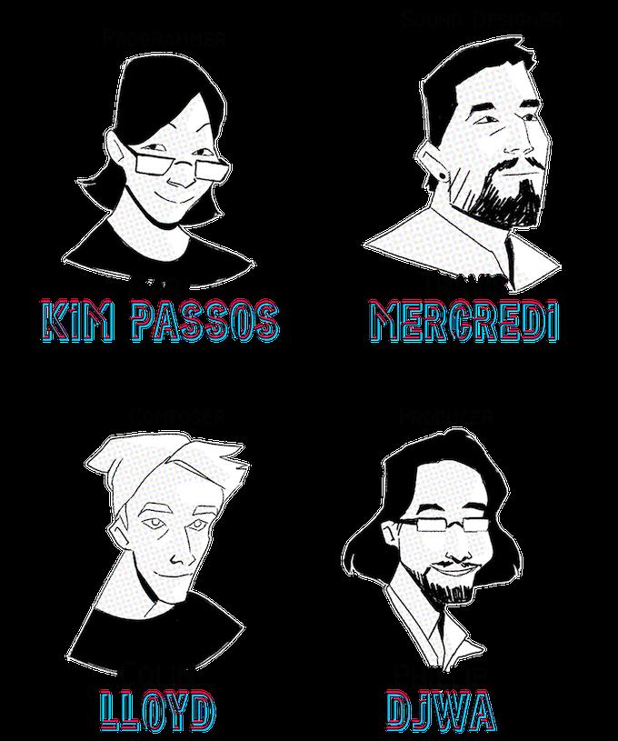 Gabi Kim Passos, Travis Mercredi, Colin Lloyd, Phillip Djwa
