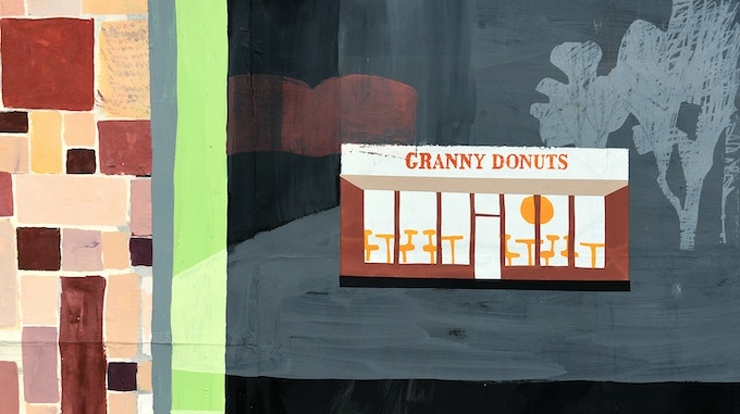 """""""Granny Donuts Again #1"""" by Carolyn Swiszcz (Click the image to see a full-size version.)"""