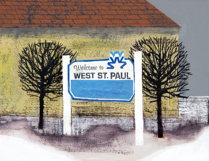 West St. Paul sign by Carolyn Swiszcz (Click the image to see a full-size version)