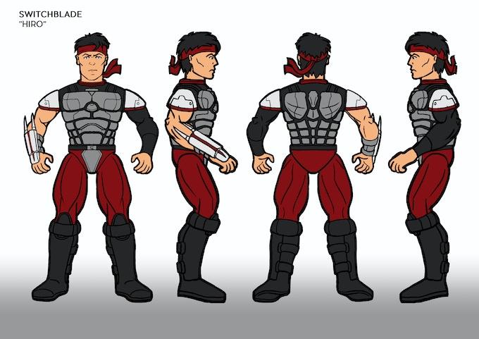 Hiro 2D action Figure Design.
