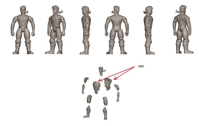 Hiro Figure 3D Assembling Render