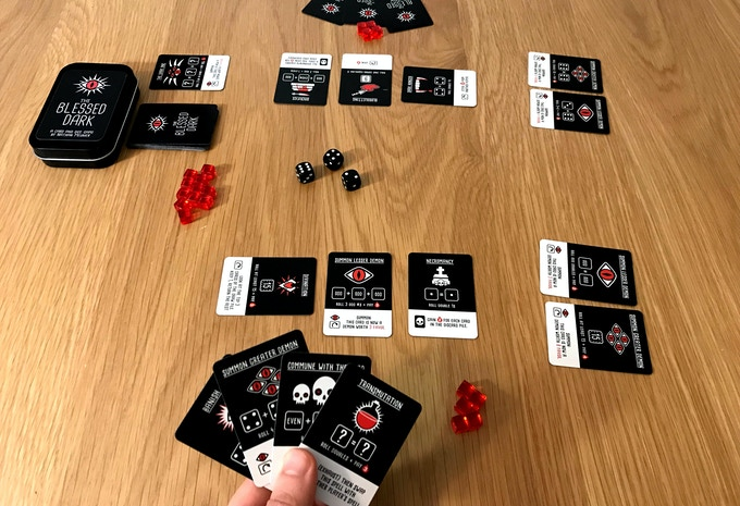 BEHOLD! A 2 player game in progress! Both cultists each have 2 demons summoned already, but things are about to get juicy!