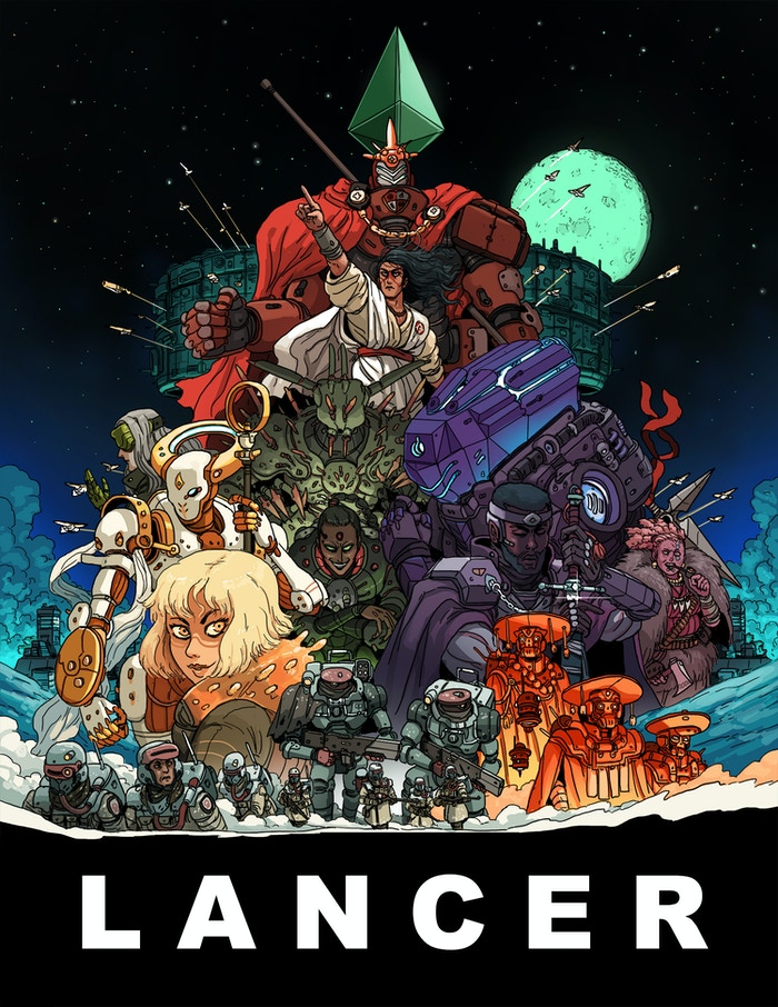 Lancer is a mud-and-lasers RPG about mechs and the pilots who crew them, featuring deep narrative play, gritty tactical combat and broad customization.