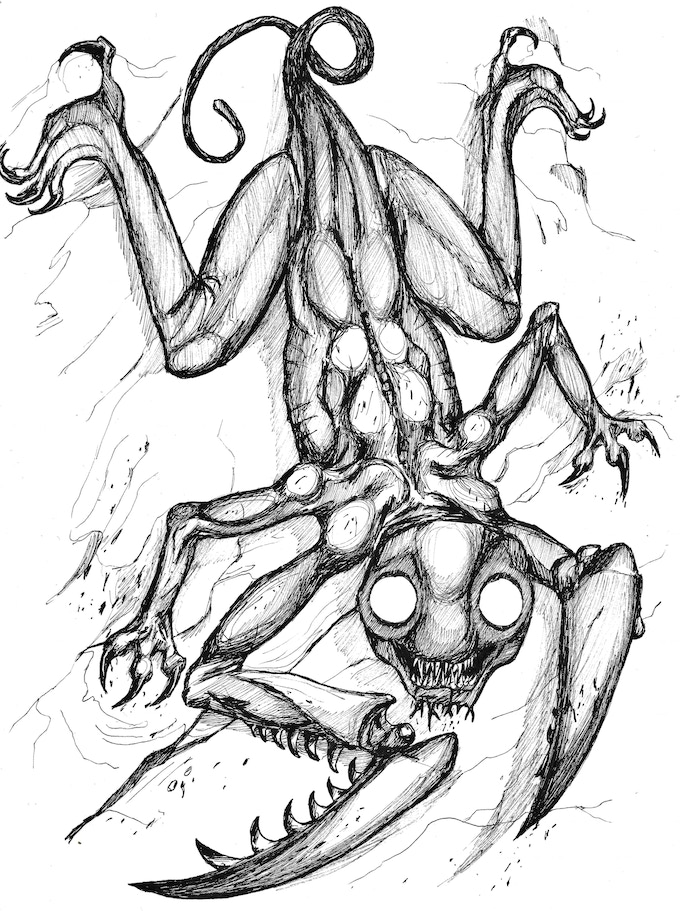 The Karnthaw from the Ravines of Karn, some great monster art by Ben