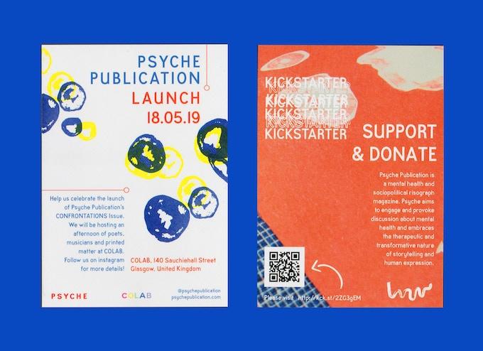 Psyche 2 launch / Kickstarter leaflets