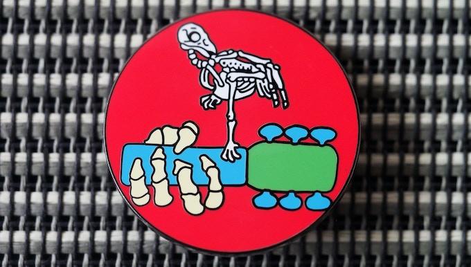 'Woodstock' Hard Enameled Pin