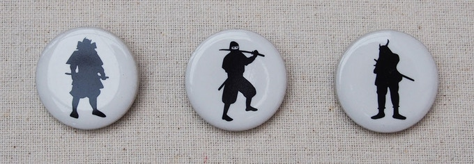 Stretch goal ceramic tile pin badge.  1 inchi round size.